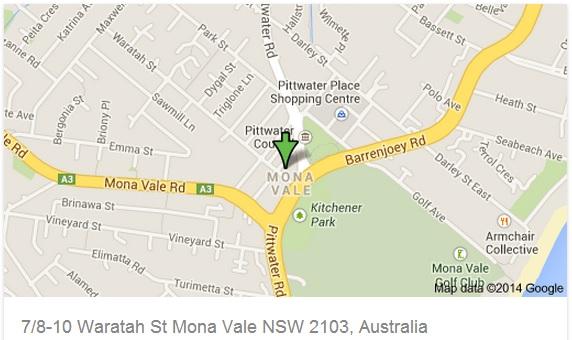 Mona Vale map